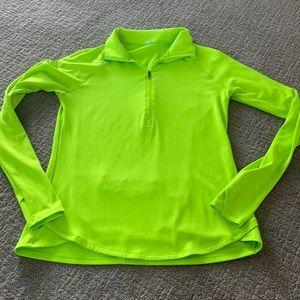 Under armour pullover green yellow medium
